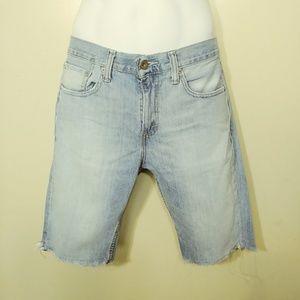 Levi's 511 Cut off Jeans Shorts Light wash Size 32